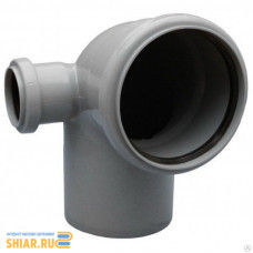 RU-РТ ПП Отвод канализационный универсальный с выходом (правый) 110/50 87 град