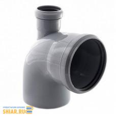 RU-РТ ПП Отвод канализационный универсальный с выходом (вверх) 110/50 87 град