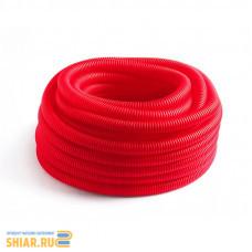 RU-СТ Труба гофрированная 32 красная (вн.диаметр 24,2 мм, 50 м)