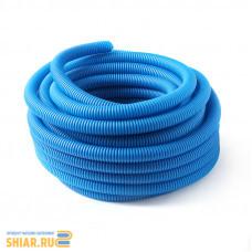 RU-СТ Труба гофрированная 32 синяя (вн.диаметр 24,2 мм, 50 м)