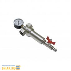 """ALT-Z Промывной фильтр механической очистки воды с манометром В-В 3/4"""" 100 мкрн"""